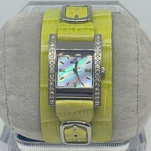 Relic Women's Lime Green Leather Stainless Watch